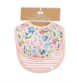 Mud Pie Bib Set/ Muslin Secret Garden