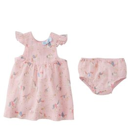 Mud Pie Dress and Bloomer Set/ Unicorn 6-9 mos.