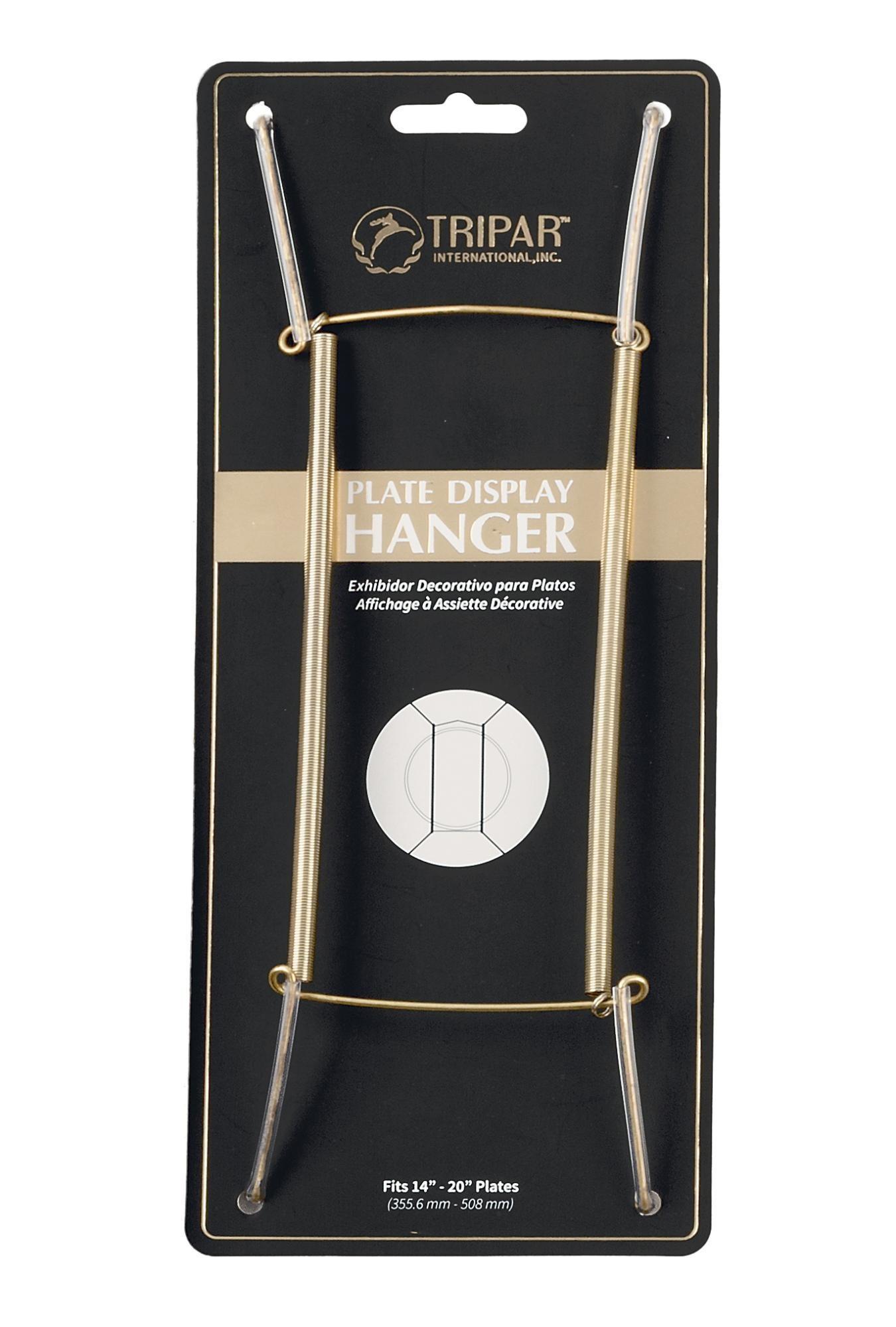 "Tripar  International, Inc. Wire Plate Hanger/ Brass 14-20"""