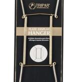 "Tripar  International, Inc. Wire Plate Hanger/ Brass 10-14"""
