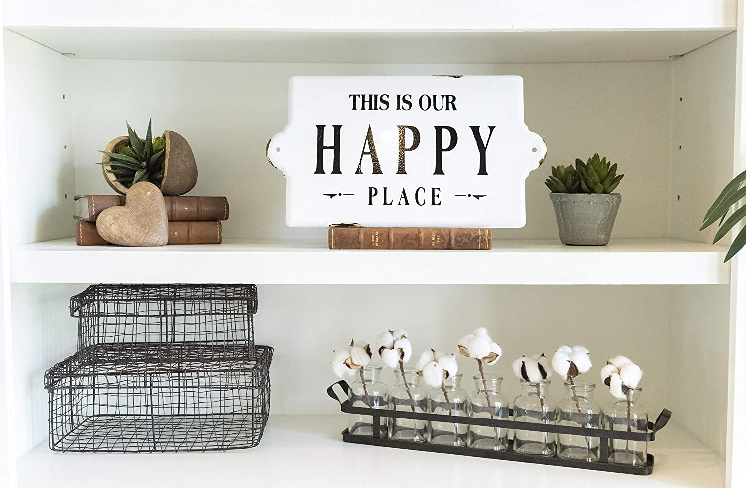 Creative Co-op Sign/ Enameled Happy Place