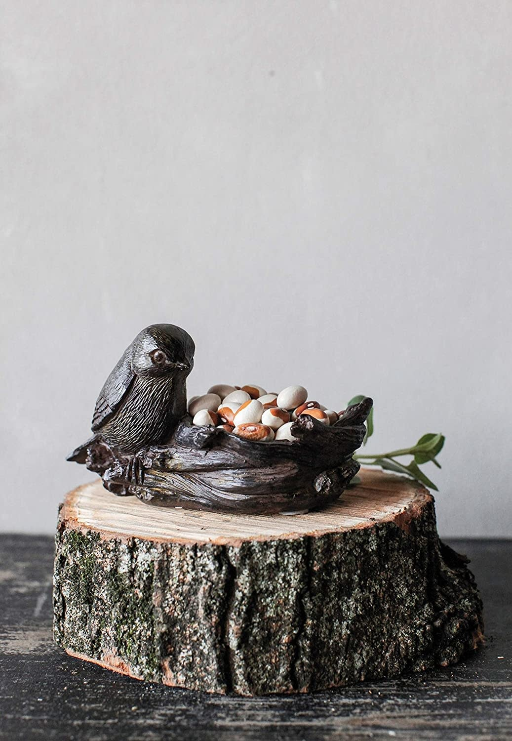 Creative Co-op Resin Bird with Nest