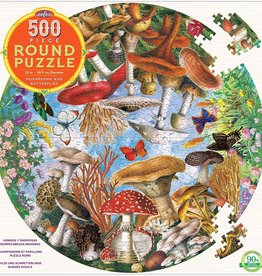 eeBoo Puzzle/ Round, Mushrooms and Butterflies 500 pc