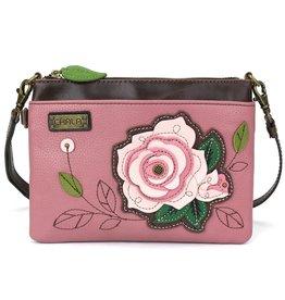 ChalaGroup Inc. Mini Crossbody Purse/ Pink Rose Pink