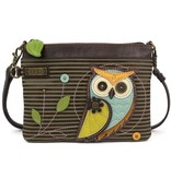 ChalaGroup Inc. Mini Crossbody Purse/ Owl Olive Stripe
