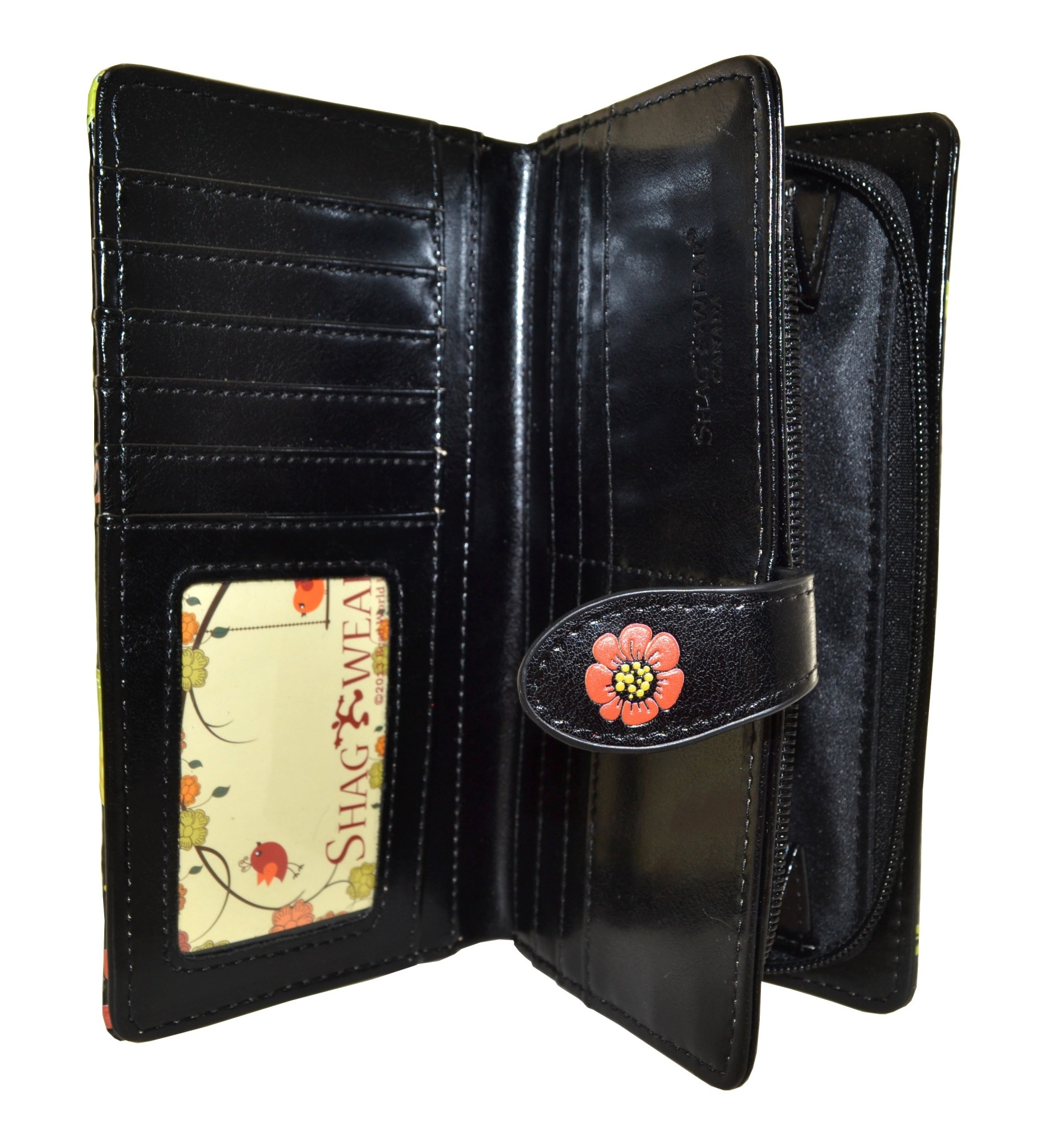 Shagwear Wallet/ Large, Gnome Forest Black
