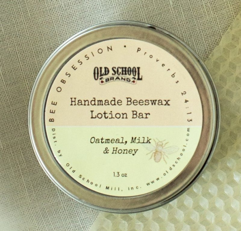 Old School Brands Beeswax Lotion Bar/ Oatmeal Milk & Honey