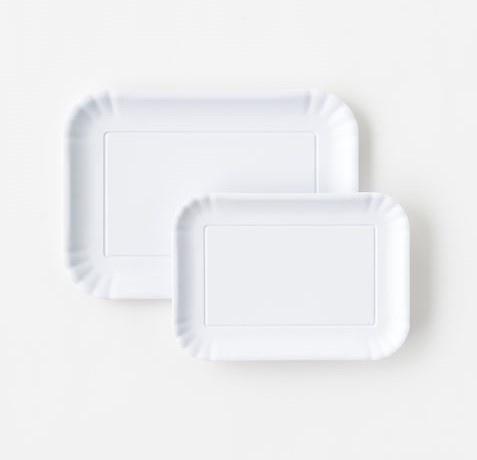 One Hundred 80 Degrees Melamine White Trays Set of 2