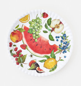 "One Hundred 80 Degrees Melamine Platter 16""/ Fruit"
