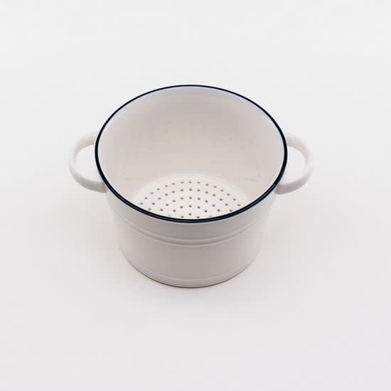 One Hundred 80 Degrees Colander/ Porcelain Nantucket