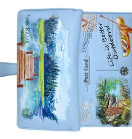 Shagwear Wallet/ Large, Life is Better Outdoors Light Blue