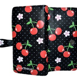 Shagwear Wallet/ Large, Cherry Black