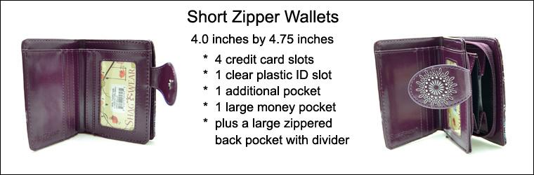 Shagwear Wallet/ Small, Cherry Pink