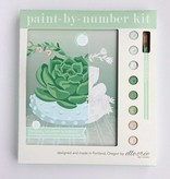 Elle Cree Paint by Number / Blooming Succulent in Bowl