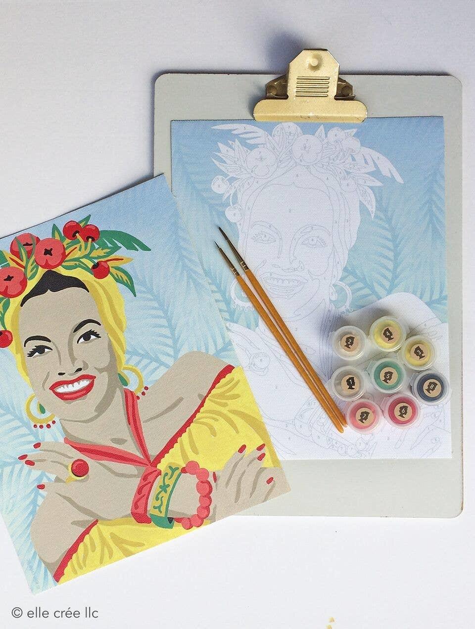 Elle Cree Paint by Number / Carmen Miranda