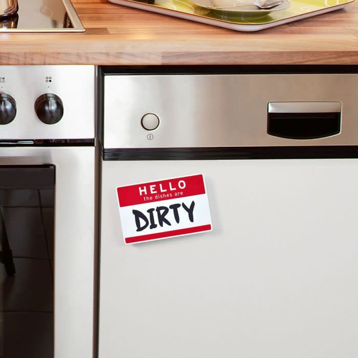 Fred and Friends/ Lifetime Brands Flipside Dishwasher Magnet/ Hello