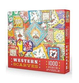 Gibbs Smith Puzzle/ Western Scarves 1000pc