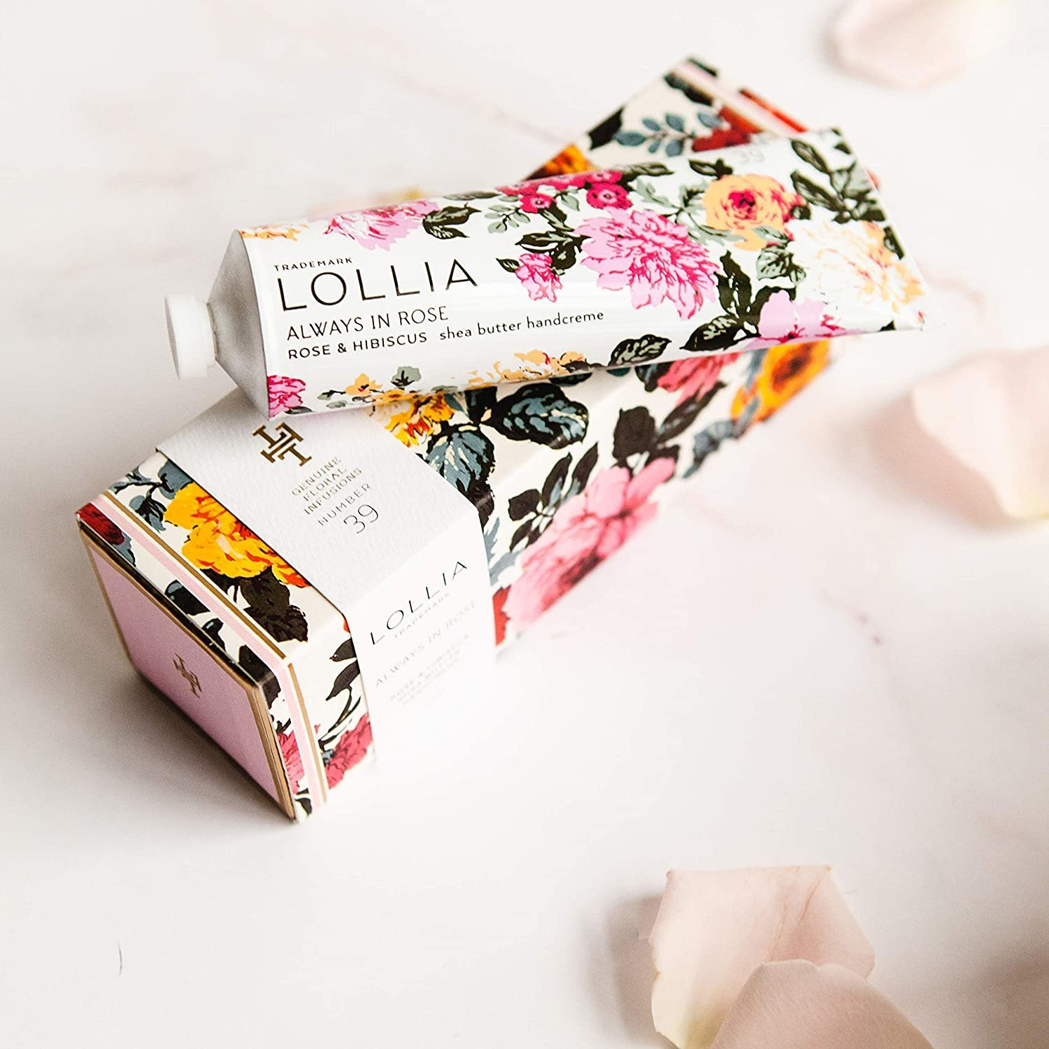 Burwell Industries Lollia Shea Butter Handcreme 4 oz./ Always in Rose