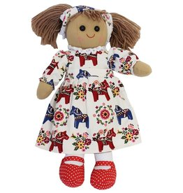 Powell Craft Rag Doll with Horse Print Dress