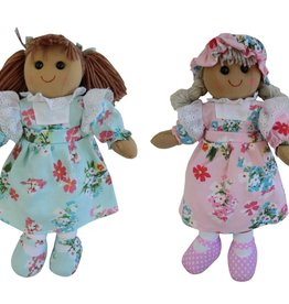 Powell Craft Rag Doll with Pink or Blue Floral Dress