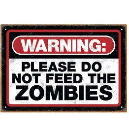 NMR Distribution Tin Sign/ Zombie Warning
