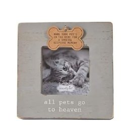 Mud Pie Frame/ All Pets Go To Heaven Pet Tag