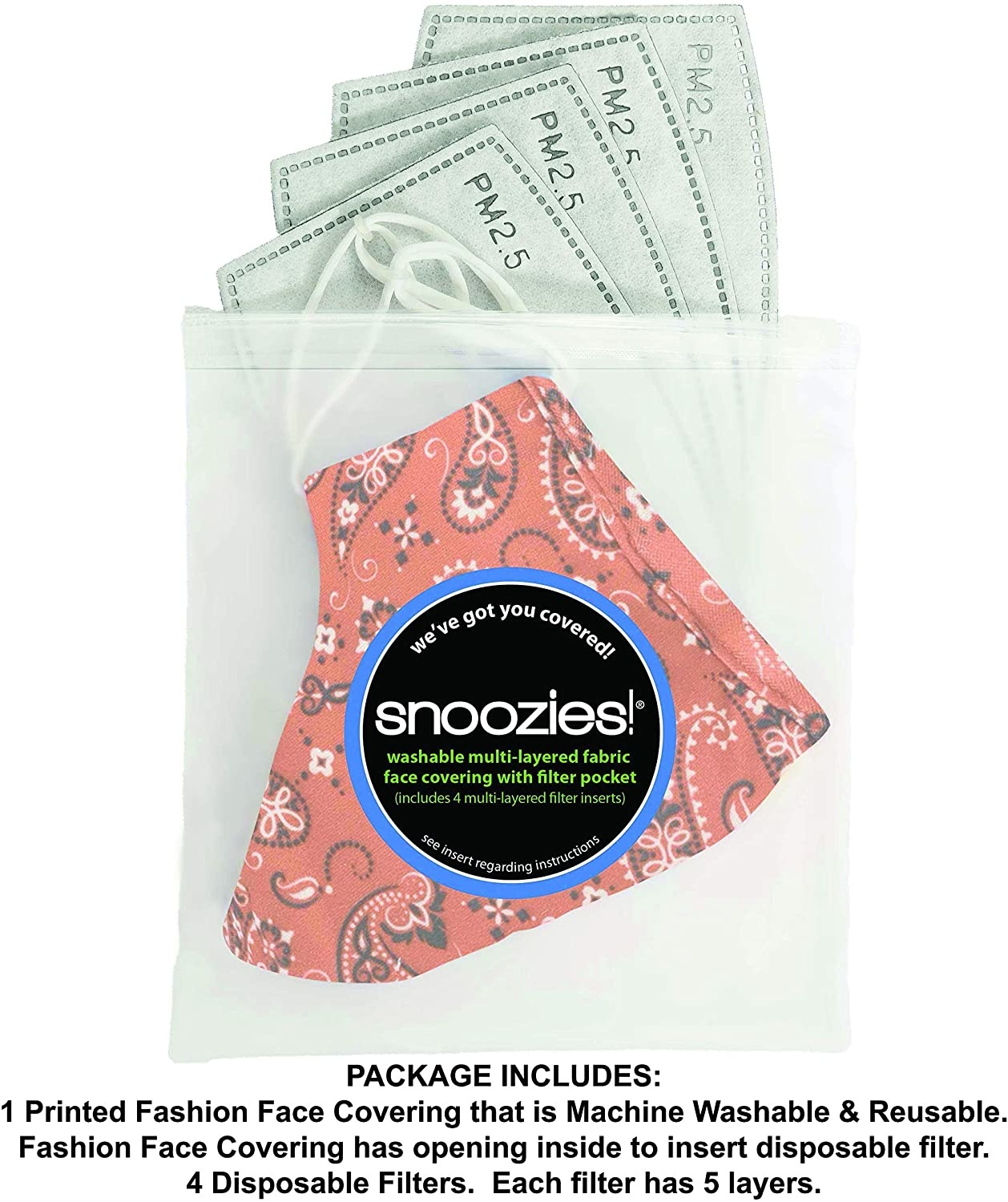Snoozies / Buyers Direct Snoozies Face Mask/ Bandana Red