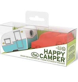 Fred and Friends/ Lifetime Brands Happy Camper Pencil Sharpener and Eraser