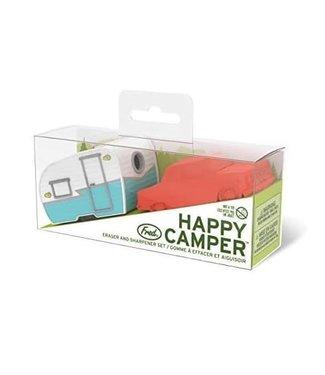 Fred and Friends/ Lifetime Brands Happy Camper Pencil Sharpener and Eraser