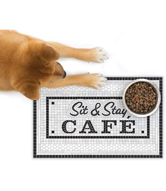 Fred and Friends/ Lifetime Brands Pet Placemat/ Sit & Stay Cafe
