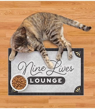 Fred and Friends/ Lifetime Brands Pet Placemat/ Nine Lives Lounge