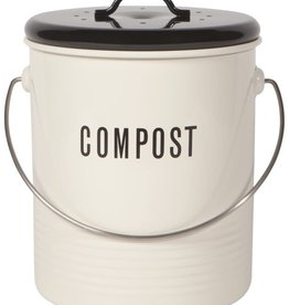 Now Designs Compost Bin/ Vintage Black and Ivory