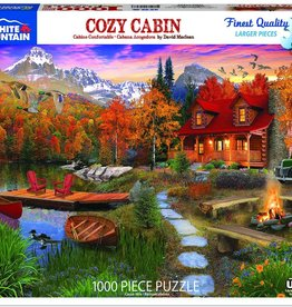 White Mountain Puzzles Puzzle/ Cozy Cabin 1000 pc