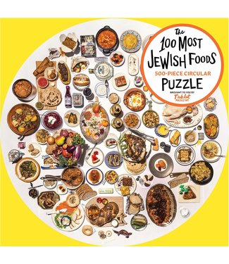 Workman Publishing Co Puzzle/ The Most Jewish Foods Round 500 pc