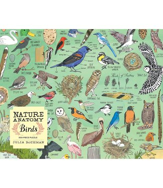 Workman Publishing Co Puzzle/ Nature Anatomy: Birds 500 pc