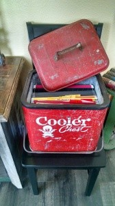 Repurposed Vintage Ice Chest