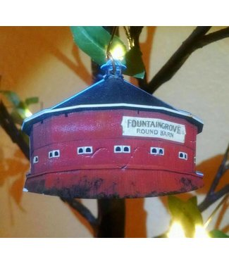 Green Tree Jewelry Ornament/ Round Barn