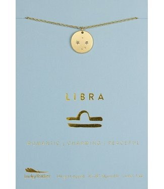 Lucky Feather Necklace / Zodiac Libra