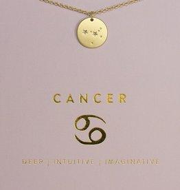 Lucky Feather Necklace / Zodiac Cancer