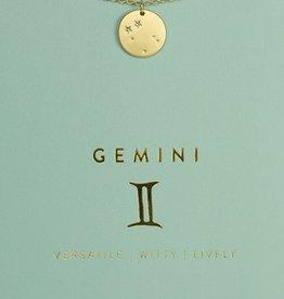 Lucky Feather Necklace / Zodiac Gemini
