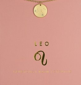Lucky Feather Necklace / Zodiac Leo