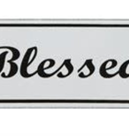 "Creative Co-op Wall Decor/ Enameled ""Blessed"""