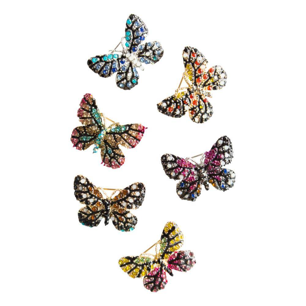 """Roman Pin/ Butterfly 1"""" Assorted Colors"""