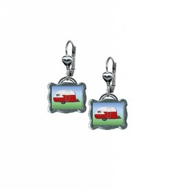 Classic Hardware Earrings/ Trailerware Red