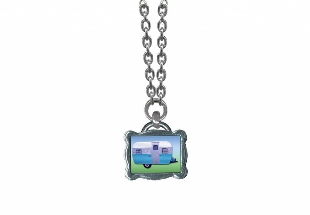 Classic Hardware Necklace/ Trailerware Blue No Beads