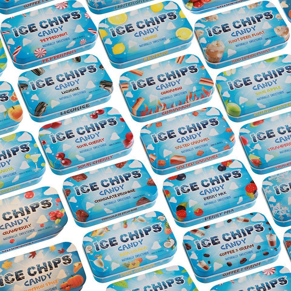 Ice Chips Candy LLC Ice Chips Xylitol Candy/ Sour Cherry