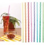 Kikkerland Straws/ Rainbow Reusable Plastic 24ct.