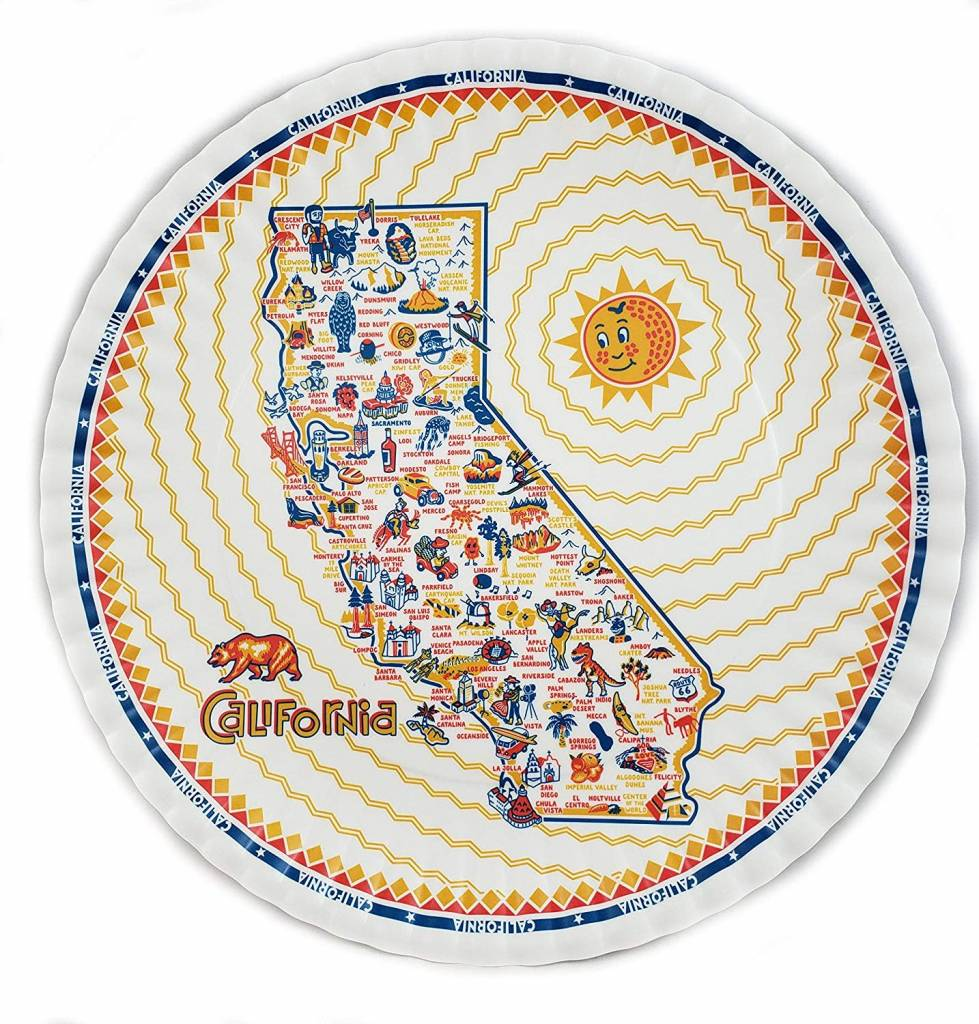 One Hundred 80 Degrees Melamine Plate Set of 4/ California