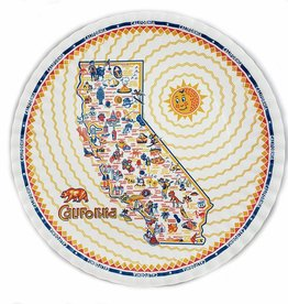 "One Hundred 80 Degrees Melamine Platter 16""/ California"