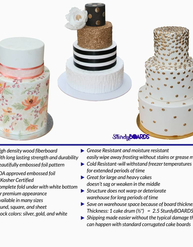 Unger Unger - Sturdy cake board - round, Gold -